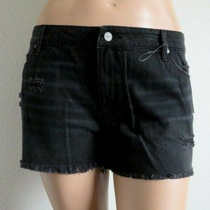BP. Jeans  Mid Rise RIPPED Shorts Plus Size 20 NWT